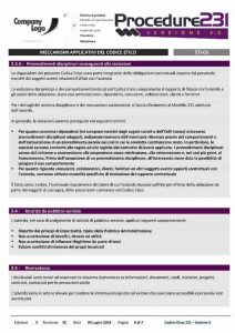 Procedure di Controllo Interno 231 - Provvedimenti giudiziali