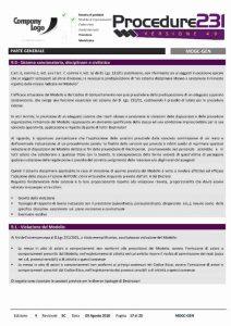 Sistema di gestione 231 - Parte Generale - Sistema sanzionatorio