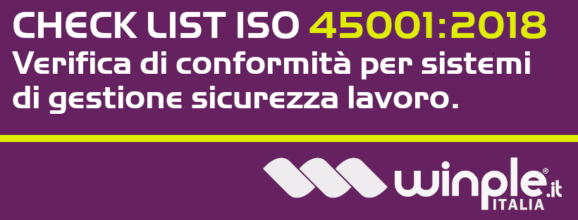 Check list gratuita ISO 45001:2018