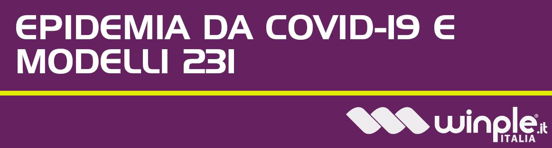 Aggiornamento modello 231 coronavirus covid 19